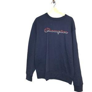 NWT power blend navy blue champion logo sweatshirt